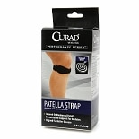 Curad Performance Series Patella Strap, Universal with Compression Pad Universal Black