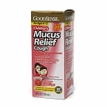 Good Sense Children's Mucus Relief Cough Liquid Cherry Flavor