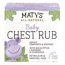 Maty's All Natural Baby Chest Rub
