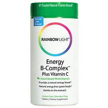 Rainbow Light Energy B-Complex Dietary Supplement Tablets