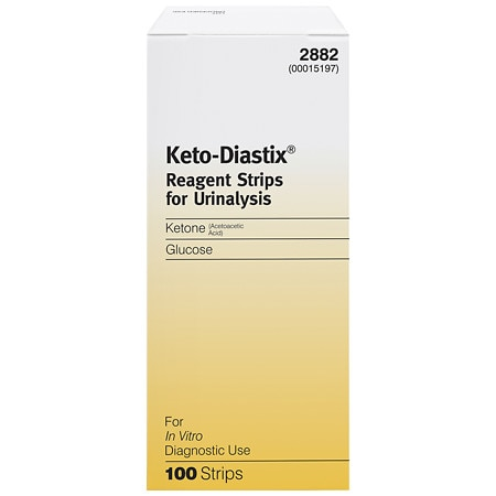 Keto-Diastix Bayer Reagent Strips for Urinalysis, Tests for Urine, Glucose, and Ketones