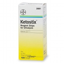 Ketostix Bayer Reagent Strips for Urinalysis, Ketone Test