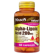 Mason Natural Alpha-Lipoic Acid 200mg, Capsules