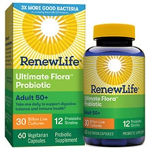 Ultimate Flora Senior Formula Probiotic, 30 Billion, Veggie Capsules