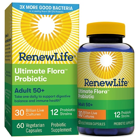 ReNew Life Ultimate Flora Senior Formula Probiotic, 30 Billion, Veggie Capsules
