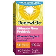 ReNew Life Ultimate Flora Vaginal Support Probiotic, 50 Billion, Veggie Capsules