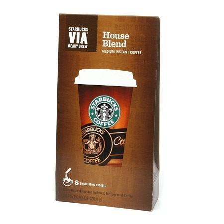 Starbucks Coffee Via Instant Coffee, House Blend