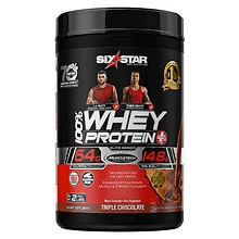 Six Star Elite Series Whey Protein+ Dietary Supplement Powder Triple Chocolate