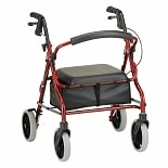 Nova Zoom Rolling Walker 18 inch Red
