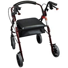 Nova Zoom Rolling Walker 20 inch Red