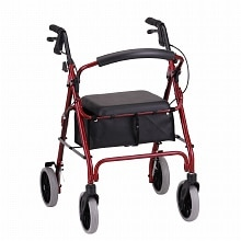 Nova Zoom Rolling Walker 22 inch Red