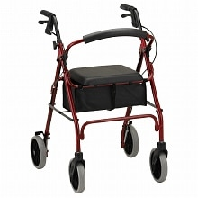 Nova Zoom Rolling Walker 4224RD 24 inch Red