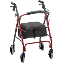 GetGO Classic Rolling Walker 4202CRD Red, In Red
