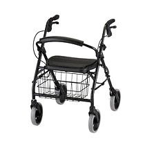 Cruiser Deluxe Rolling Walker, Black