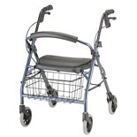 Nova Cruiser Deluxe Junior Rolling Walker Blue