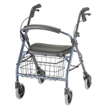 Cruiser Deluxe Junior Rolling Walker, Blue