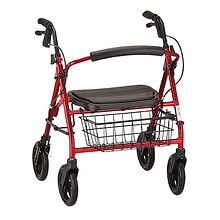 Nova Mini Mack Heavy Duty Rolling Walker Red