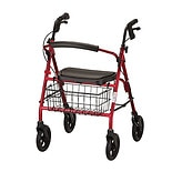 Nova Mack Heavy Duty Rolling Walker Red