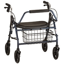 Mighty Mack Heavy Duty Rolling Walker, Blue