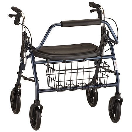 Nova Mighty Mack Heavy Duty Rolling Walker Blue