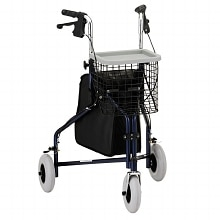 Nova Traveler 3 Wheel Walker Blue