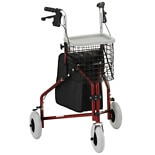 Nova Traveler 3 Wheel Walker Red