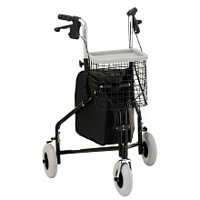 Nova Traveler 3 Wheel Walker Black