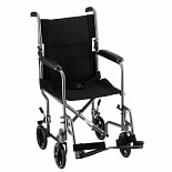 Nova Steel Transport Chair in Hammertone 19 inch