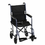 Nova 19 inch Steel Transport Chair Blue19 inch Blue