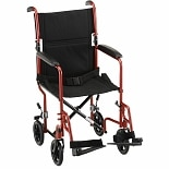 Nova 19 inch Steel Transport Chair Red 319R