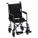 Steel Transport Chair 319BK 19 inchBlack