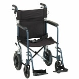 Nova 19 inch Transport Chair with 12 inch Rear Wheels in Blue20 inch Blue