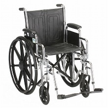 Nova Wheelchair with Detachable Arms 5165S 16 inch Black Vinyl