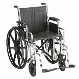 Nova 18in. Steel Wheelchair with Detachable Arms 5185S 18 inch Black Vinyl