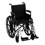 Nova Wheelchair Lightweight, Flip Back Detach Arm Swing Away Footrest 16 inch