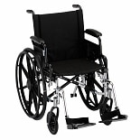 Nova Wheelchair Lightweight with Removable Flip-BackDesk Arms and Swingaway Footrests 18 inch seat width