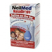 NeilMed NasaDrops Saline on the Go Ampoules 15 Pack