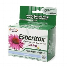 Enzymatic Therapy Esberitox Supercharged Echinacea, Chewable Tablets