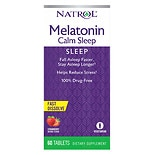Advanced Melatonin Calm Sleep Dietary Supplement Tablets Strawberry