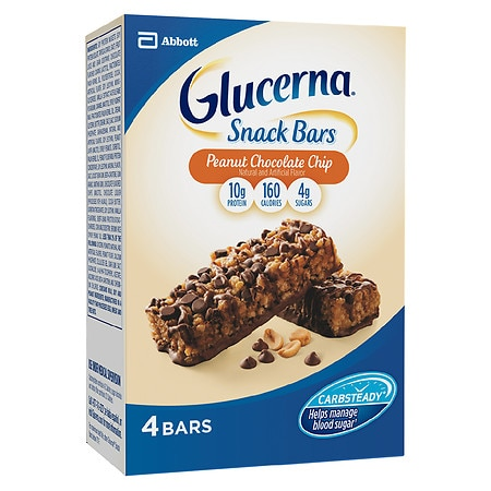 Glucerna Hunger Smart HungerSmart Snack Bars 4 Pack Chocolate Peanut Crisp