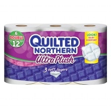 Quilted Northern Ultra Plush Bath Tissue, Double Roll