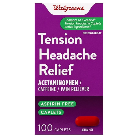 Walgreens Tension Headache, Relief, Caplets