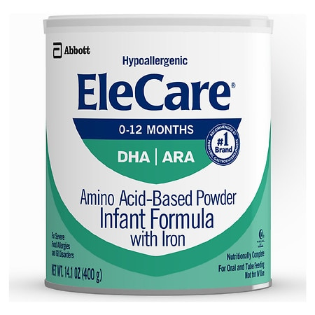 Elecare Amino Acid Based Infant Formula With Iron Powder Unflavored Makes 95 Ounces
