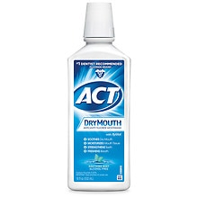 ACT Total Care Total Care Dry Mouth Anticavity Fluoride Rinse Soothing Mint