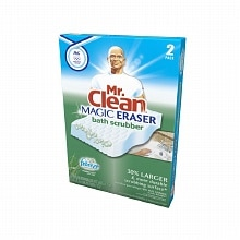 Mr. Clean Magic Eraser with Febreze Fresh Scent Bath Scrubber Meadows & Rain
