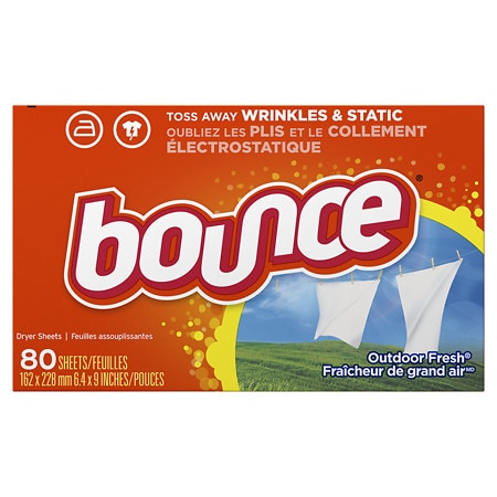 Bounce Fabric Softener Dryer Sheets Outdoor Fresh