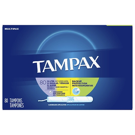 Tampax Tampons with Cardboard Applicators light Regular Super