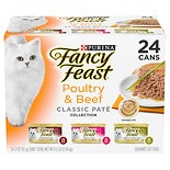 Fancy Feast Poultry & Beef Feast, Variety Classic, Case