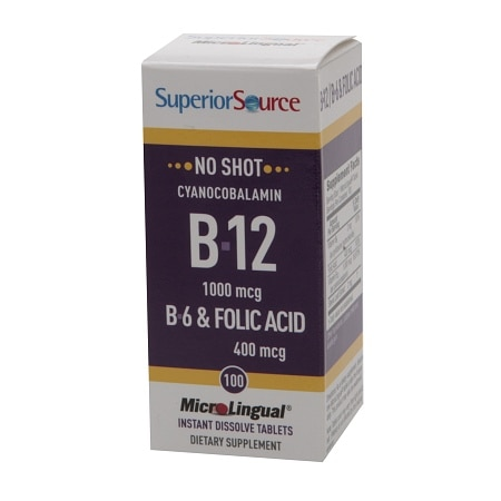 Superior Source No Shot B6/B12/Folic Acid, Dissolve Tablets