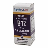Superior Source No Shot Methyl B12 5000 mcg/B6/Folic Acid 800mcg, Dissolve Tablets